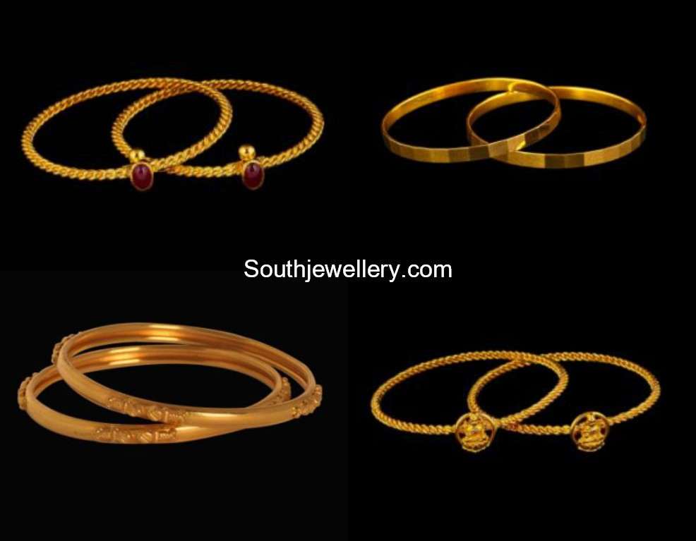 Light Weight Gold Bangles For Kids - Jewellery Designs