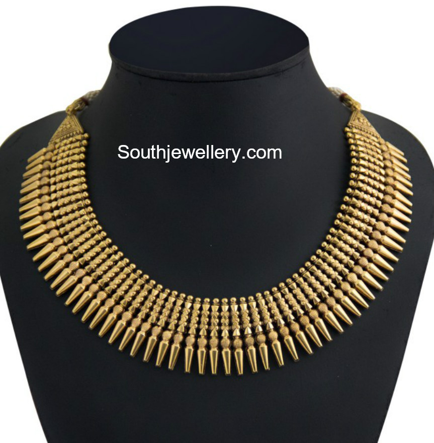 Traditional Gold Necklace Designs Jewellery Designs