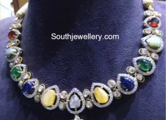 navratna stones necklace