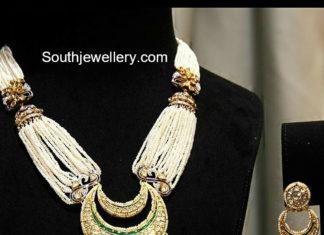 pearl necklace jhumki pendant