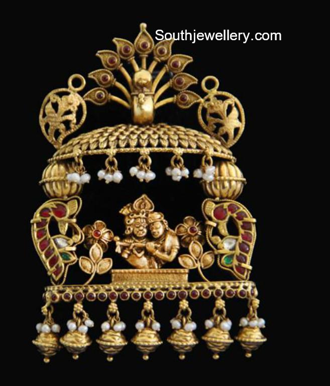 Radha krishna pendant jewellery designs radha krishna pendant aloadofball Images