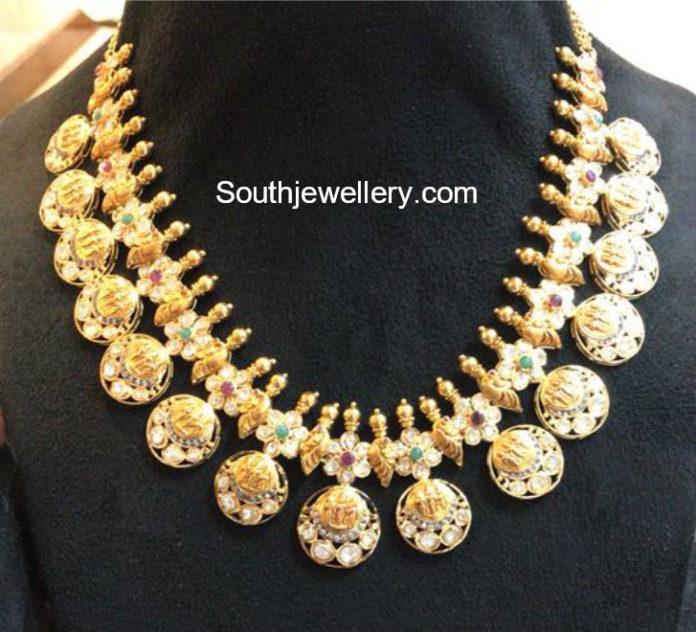 ram sita lakshma kasu necklace