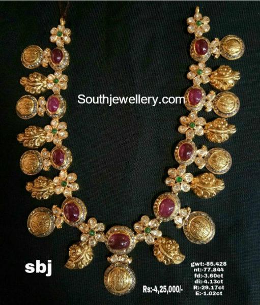 Ram Parivar Pacchi Kasu Necklace