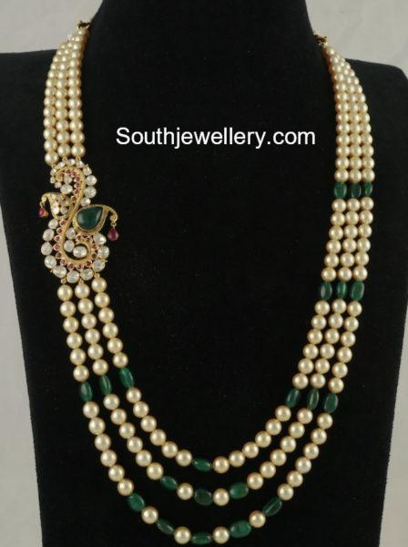 South Sea Pearl Mala with Side Pendant