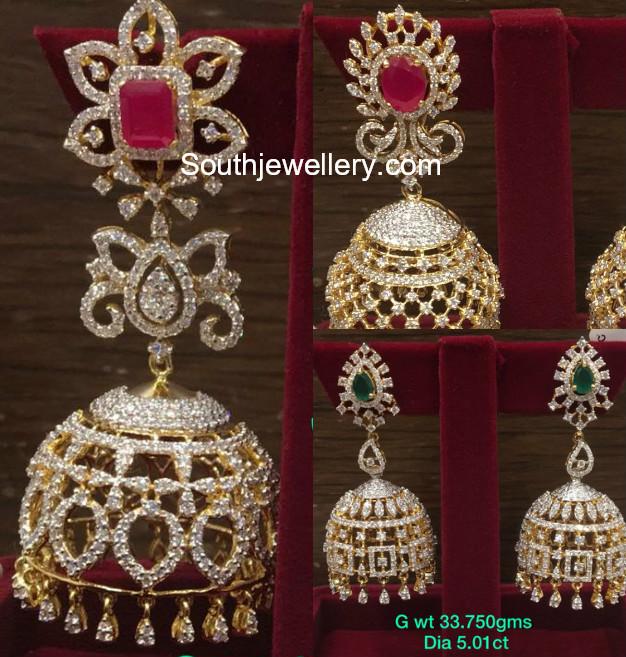 gold jhumki designs
