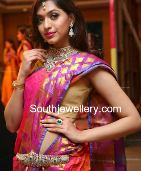 Indian diamond necklace, south indian jewellery deisgns, 2018 necklace deisgns in gold