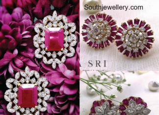 diamond ruby studs designs