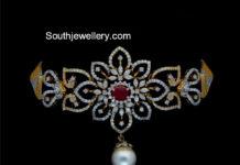 floral diamond choker
