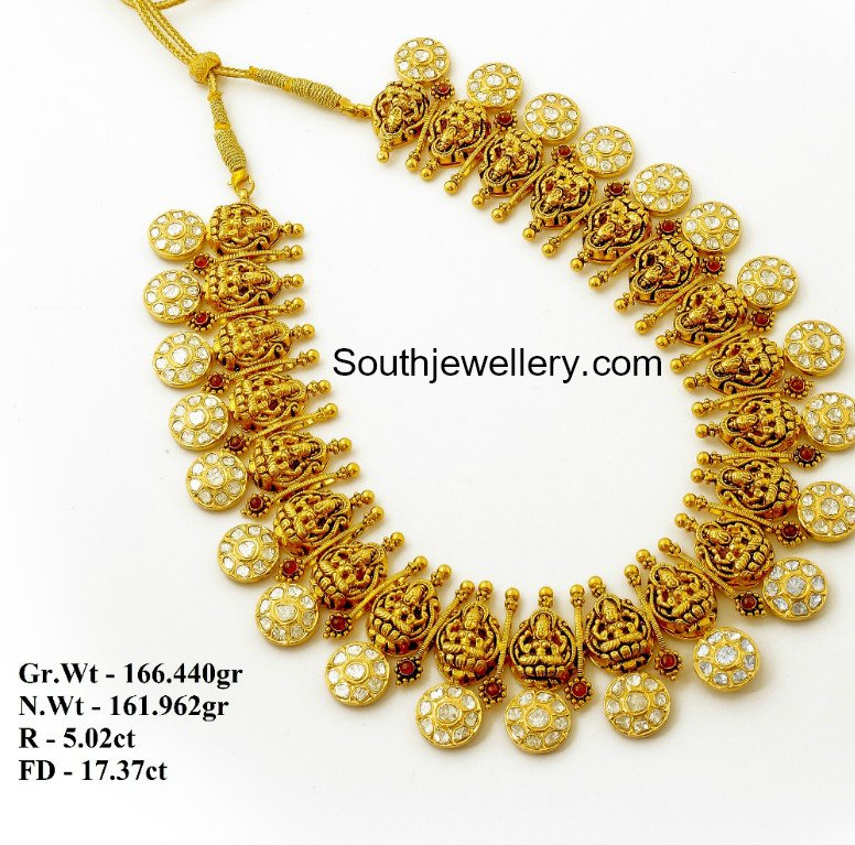 Temple Design Gold Necklace Latest Temple Jewellery Designs