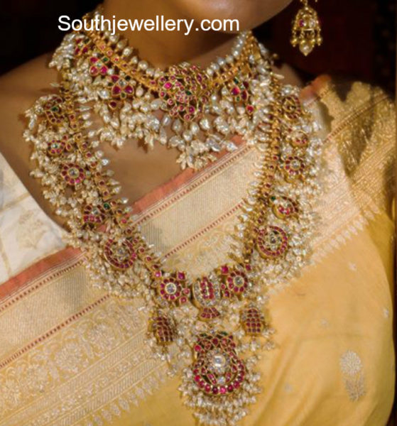 guttapusalu necklace and haram designs