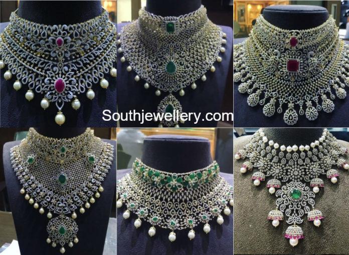 indian diamond choker designs