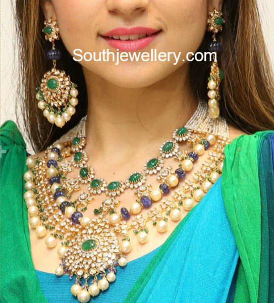 bridal polki diamond necklace