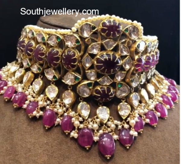 indian style choker necklaces