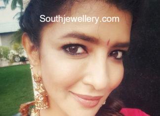 lakshmi manchu gold necklace