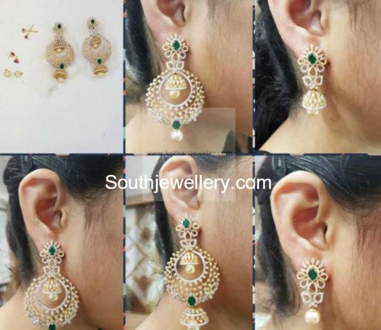 multi purpose diamond earrings indian