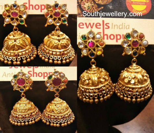 Gold Earrings latest jewelry designs Jewellery Designs