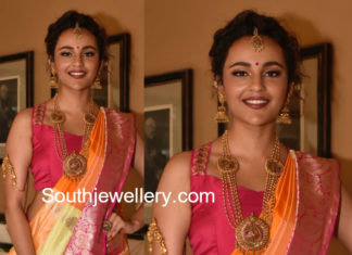seerat kapoor gold jewelry teach for change