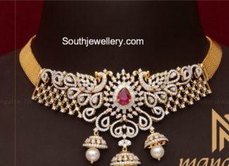 simple diamond necklace designs