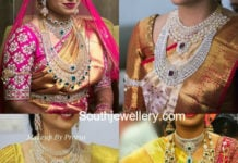 real south indian brides diamond jewellery