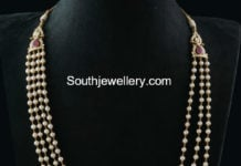 south sea pearl mala side pendant