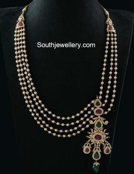 south sea pearl mala side pendant