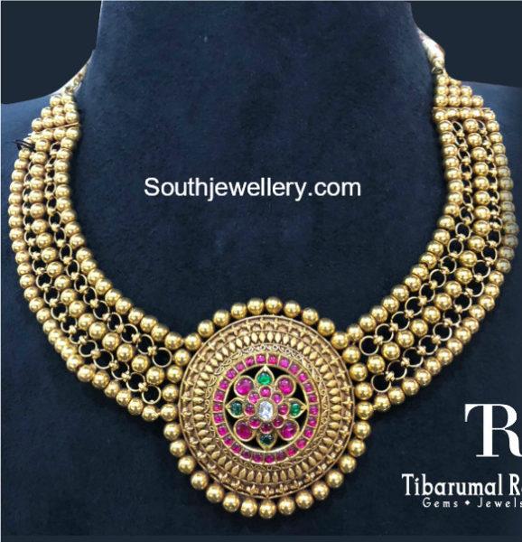 traditional gold necklace jewellery designs