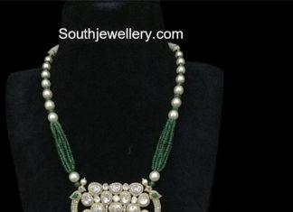 beads necklace polki pendant
