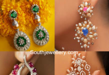 diamond earrings by Khanna Jewellers
