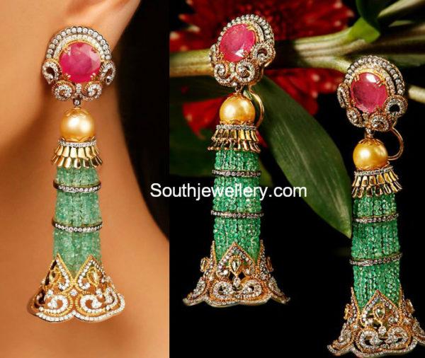 diamond gemstone earrings
