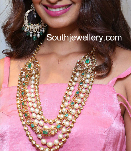 polki diamond necklace designs