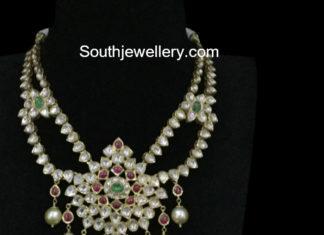 kundan step necklace
