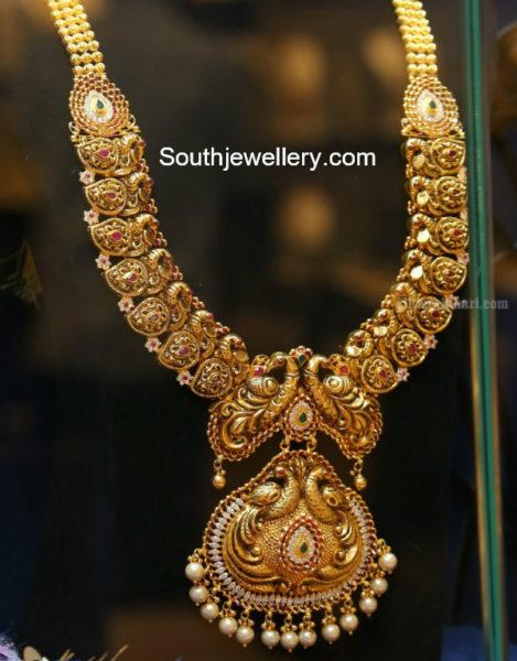 Peacock Mango Haram Jewellery Designs