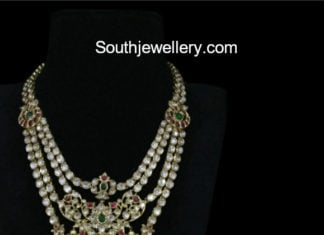 uncut diamond step necklace models