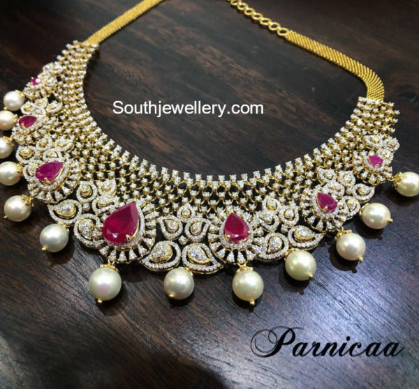 diamond ruby necklace