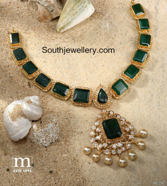 emerald pacchalu necklace