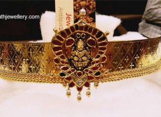 latest gold vaddanam designs