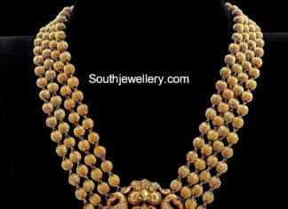 gundla mala with lakshmi pendant