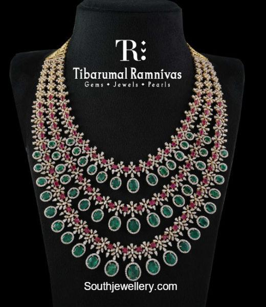 layered diamond emerald ruby haram