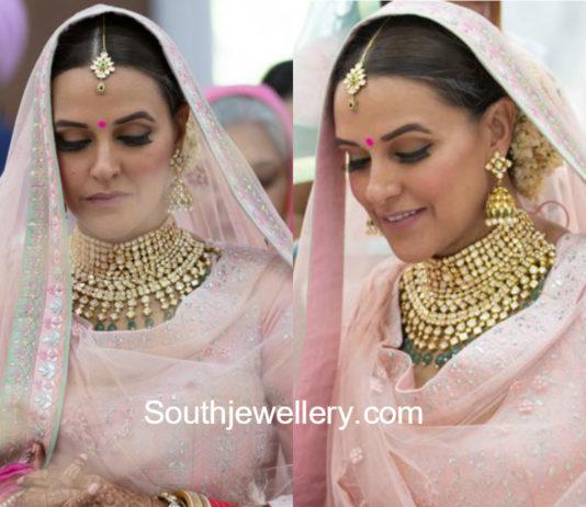 neha dhupia wedding jewellery