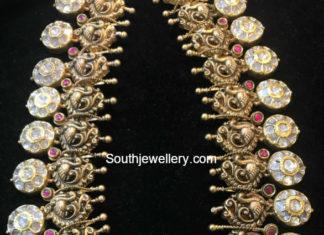peacock bottu necklace