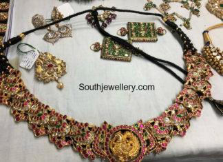 peacock necklace plus vaddanam