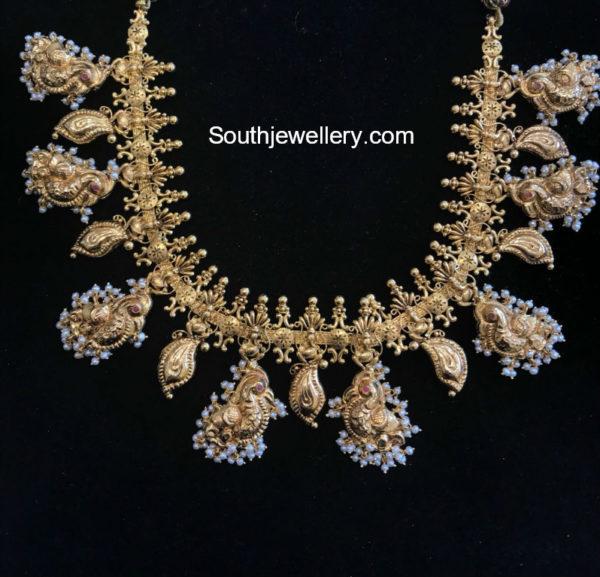 peacock necklace designs