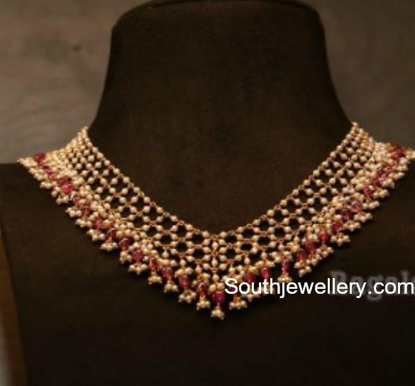 pearl necklace mahanati jewellery