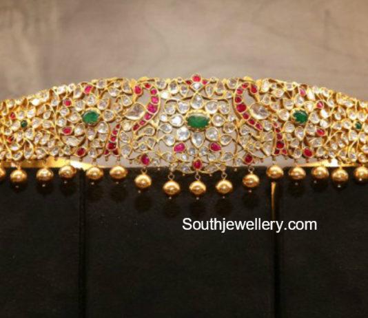 Fancy Lights Shops In Hyderabad: Uncut Diamond Vaddanam Latest Jewelry Designs