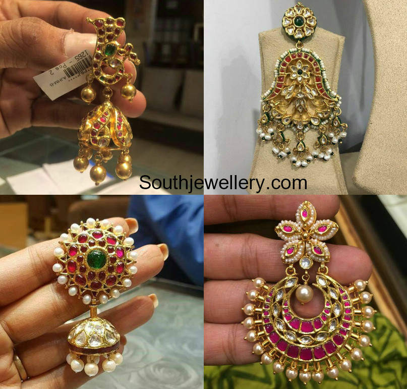 Antique Gold Earring Models Jewellery Designs