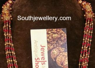 beads mala krishna pendant
