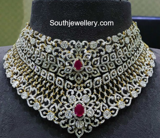two step diamond necklace