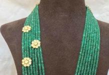 emerald beads mala