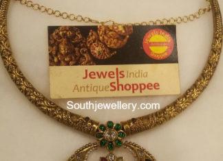 kanthi necklace kundan pendant
