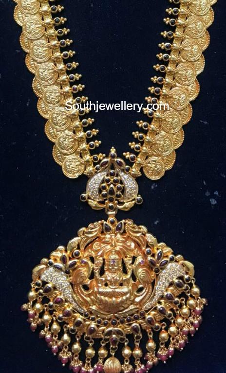 kasu haram lakshmi pendant